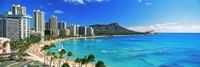 "Diamond Head, Waikiki Beach, Oahu, Honolulu, Hawaii by Panoramic Images - 36"" x 12"""