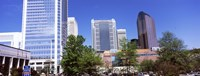 """Downtown modern buildings in a city, Charlotte, Mecklenburg County, North Carolina, USA 2011 by Panoramic Images, 2011 - 36"""" x 12"""", FulcrumGallery.com brand"""