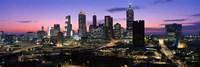 """Atlanta skyline at night, Georgia, USA by Panoramic Images - 36"""" x 12"""""""