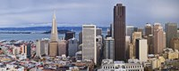 "Skyscrapers in the city with the Oakland Bay Bridge in the background, San Francisco, California, USA 2011 by Panoramic Images, 2011 - 36"" x 12"", FulcrumGallery.com brand"