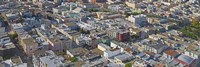 Aerial view of colorful houses near Washington Square and Columbus Avenue, San Francisco, California, USA by Panoramic Images - various sizes