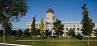 Garden in front of Utah State Capitol Building, Salt Lake City, Utah, USA Fine Art Print