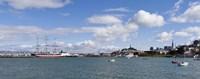"Boats in the bay, Transamerica Pyramid, Coit Tower, Marina Park, Bay Bridge, San Francisco, California, USA by Panoramic Images - 36"" x 12"""