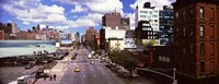 """High angle view of buildings along 10th Avenue, New York City, New York State, USA by Panoramic Images - 36"""" x 12"""""""