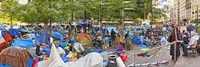 Occupy Wall Street at Zuccotti Park, Lower Manhattan, Manhattan, New York City, New York State, USA by Panoramic Images - various sizes