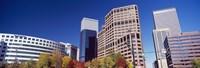 Low angle view of skyscrapers, Downtown Denver, Denver, Colorado, USA 2011 Fine Art Print