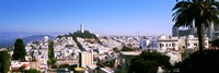 High angle view of buildings in a city, Russian Hill, San Francisco, California, USA by Panoramic Images - various sizes