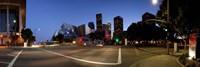 Concert hall lit up at night, Walt Disney Concert Hall, City Of Los Angeles, Los Angeles County, California, USA 2011 Fine Art Print