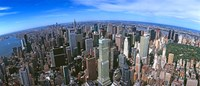 """Aerial view of New York City, New York State, USA 2012 by Panoramic Images, 2012 - 36"""" x 15"""""""