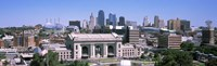 """Union Station with city skyline in background, Kansas City, Missouri, USA by Panoramic Images - 36"""" x 12"""", FulcrumGallery.com brand"""