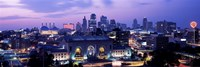 """Union Station at sunset with city skyline in background, Kansas City, Missouri by Panoramic Images - 36"""" x 12"""", FulcrumGallery.com brand"""