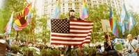 """Occupy Wall Street protester, Zuccotti Park, Lower Manhattan, Manhattan, New York City, New York State, USA by Panoramic Images - 36"""" x 12"""""""