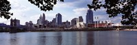 """City at the waterfront, Ohio River, Cincinnati, Hamilton County, Ohio by Panoramic Images - 36"""" x 12"""""""
