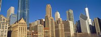 """Low angle view of city skyline, Michigan Avenue, Chicago, Cook County, Illinois, USA by Panoramic Images - 36"""" x 12"""""""