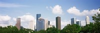 """Houston Skyline with Clouds, Texas, USA by Panoramic Images - 36"""" x 12"""", FulcrumGallery.com brand"""