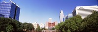 """Buildings in a city, Omaha, Nebraska by Panoramic Images - 36"""" x 12"""""""