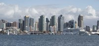 """San Diego City Skyline by Panoramic Images - 36"""" x 12"""", FulcrumGallery.com brand"""
