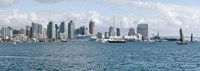 """San Diego as seen from the Water by Panoramic Images - 36"""" x 12"""", FulcrumGallery.com brand"""