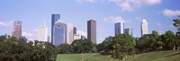 "Downtown skylines, Houston, Texas by Panoramic Images - 36"" x 12"", FulcrumGallery.com brand"