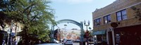 """Street scene, Lincoln Square, Chicago, Cook County, Illinois, USA by Panoramic Images - 36"""" x 12"""""""