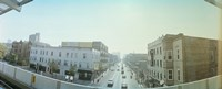 """City viewed from a railroad platform, Lakeview, Chicago, Cook County, Illinois, USA by Panoramic Images - 36"""" x 12"""""""