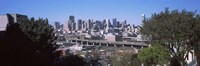 "Skyline with Highway Overpass, San Francisco by Panoramic Images - 36"" x 12"" - $34.99"