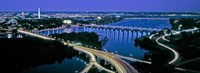 """Aerial view of Washington DC and river by Panoramic Images - 36"""" x 12"""""""