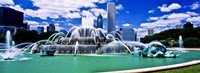 """Buckingham Fountain in Grant Park, Chicago, Cook County, Illinois, USA by Panoramic Images - 36"""" x 12"""""""