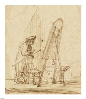 An Artist in His Studio Fine Art Print