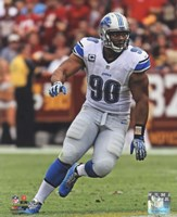 Ndamukong Suh 2013 in action Fine Art Print