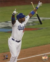 Yasiel Puig RBI Triple Game 3 of the 2013 National League Championship Series Action Fine Art Print