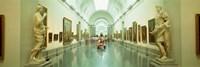 Interior Of Prado Museum Madrid Spain
