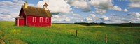 """Small Red Schoolhouse, Battle Lake, Minnesota, USA by Panoramic Images - 27"""" x 9"""""""