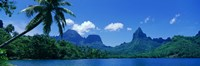"Lush Foliage And Rock Formations, Moorea Island, Tahiti by Panoramic Images - 27"" x 9"""