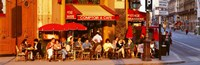 """Cafe, Paris, France by Panoramic Images - 27"""" x 9"""" - $28.99"""
