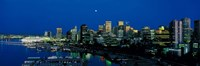"""Evening skyline Vancouver British Columbia Canada by Panoramic Images - 27"""" x 9"""""""