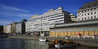 "Buildings at the waterfront, Palace Hotel, Helsinki, Finland by Panoramic Images - 27"" x 9"""