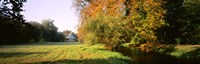 """Park Sans-Souci w/ teahouse in Autumn Potsdam Germany by Panoramic Images - 27"""" x 9"""""""
