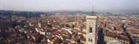 "Aerial view of a city, Florence, Tuscany, Italy by Panoramic Images - 27"" x 9"""