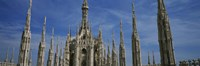 """Facade of a cathedral, Piazza Del Duomo, Milan, Italy by Panoramic Images - 27"""" x 9"""""""