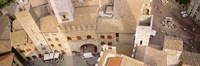 """High angle view of houses, San Gimignano, Tuscany, Italy by Panoramic Images - 27"""" x 9"""", FulcrumGallery.com brand"""