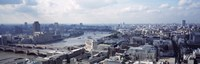 """England, London, Aerial view from St. Paul's Cathedral by Panoramic Images - 27"""" x 9"""""""