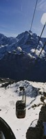 """High angle view of an overhead cable car, Jungfrau, Bernese Oberland, Swiss Alps, Switzerland by Panoramic Images - 9"""" x 27"""""""