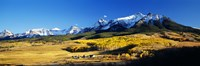 "USA, Colorado, Ridgeway, Last Dollar Ranch, autumn by Panoramic Images - 27"" x 9"""