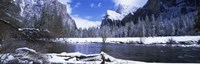 """USA, California, Yosemite National Park, Flowing river in the winter by Panoramic Images - 27"""" x 9"""""""