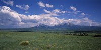 """Meadow with mountains in the background, Cuchara River Valley, Huerfano County, Colorado, USA by Panoramic Images - 27"""" x 9"""""""