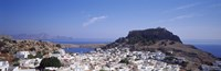 """Houses on an island, Lindos, Rhode Island, Dodecanese, Greece by Panoramic Images - 27"""" x 9"""", FulcrumGallery.com brand"""