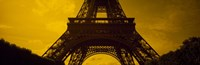 """Low angle view of a tower, Eiffel Tower, Champ De Mars, Paris, Ile-De-France, France by Panoramic Images - 27"""" x 9"""", FulcrumGallery.com brand"""