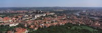 "Aerial view of a cityscape, Prague, Czech Republic by Panoramic Images - 27"" x 9"""