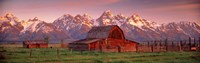 """Barn Grand Teton National Park WY USA by Panoramic Images - 27"""" x 9"""""""